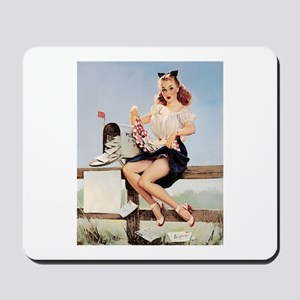 Vintage Pin-Up Mousepad